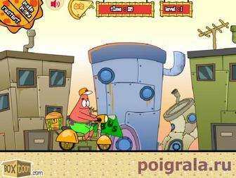 Картинка к игре Патрик развозит пиццу
