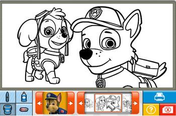 Картинка к игре Щенячий патруль, книжка-раскраска