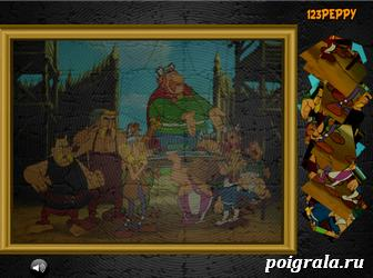 Картинка к игре Пазл: Астерикс и галлы