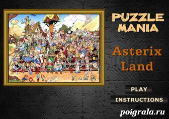 Пазл: деревня Астерикса картинка 1