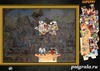 Картинка к игре Пазл: деревня Астерикса