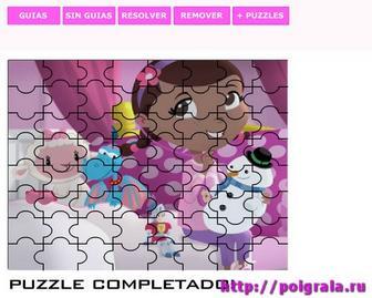 Картинка к игре Пазл, доктор Плюшева и снеговик