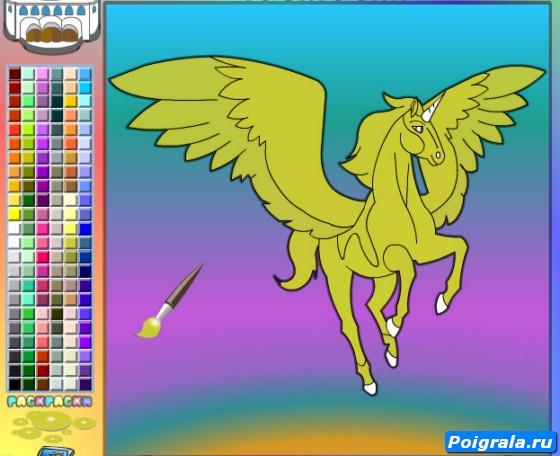 Картинка к игре Раскраска пегаса