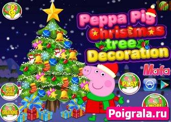 Свинка Пеппа украшает елку картинка 1
