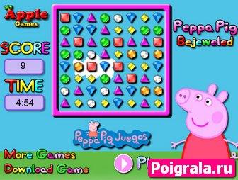 Картинка к игре Свинка Пеппа и драгоценные камушки