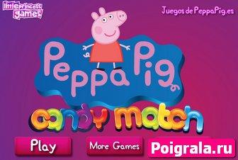 Игра Свинка Пеппа и шоколадные конфеты