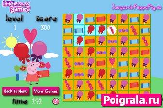 Картинка к игре Свинка Пеппа и шоколадные конфеты