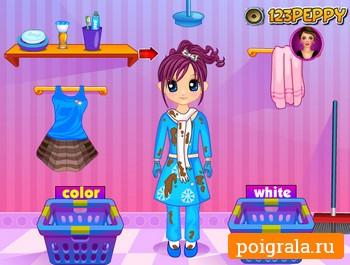Картинка к игре Стирка и глажка одежды