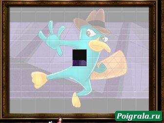Картинка к игре Пазл с утконосом Перри