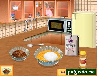 Игра Кухня Сары, персиковый коблер
