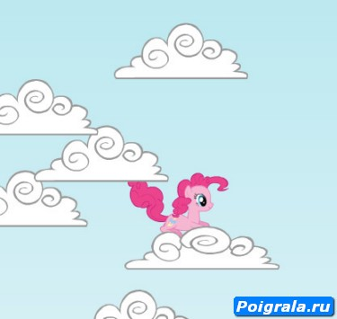 Игра Пинки Пай в облаках