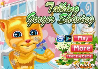 Игра Побрей кота Рыжика