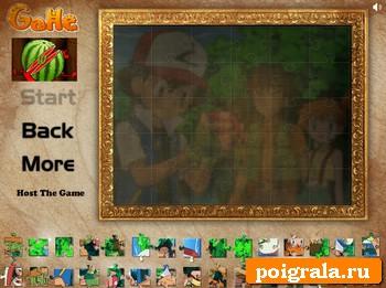 Картинка к игре Покемоны, коллекция пазлов