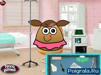 Картинка к игре Картошка Поу у доктора
