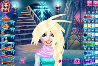 Картинка к игре Холодное сердце, прическа для Эльзы