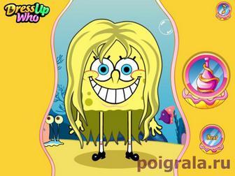 Картинка к игре Прическа Губки Боба