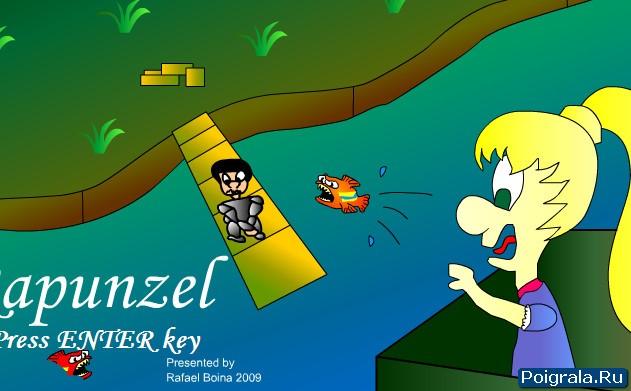 Игра Рапунцель, бродилка перед замком
