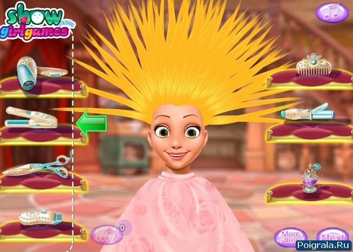 Картинка к игре Прическа для Рапунцель