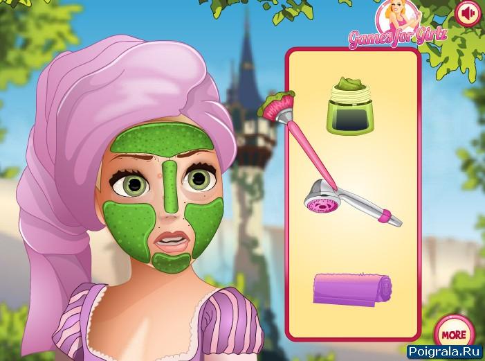 Картинка к игре Рапунцель макияж