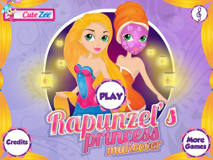 Игра Макияж и прически Рапунцель