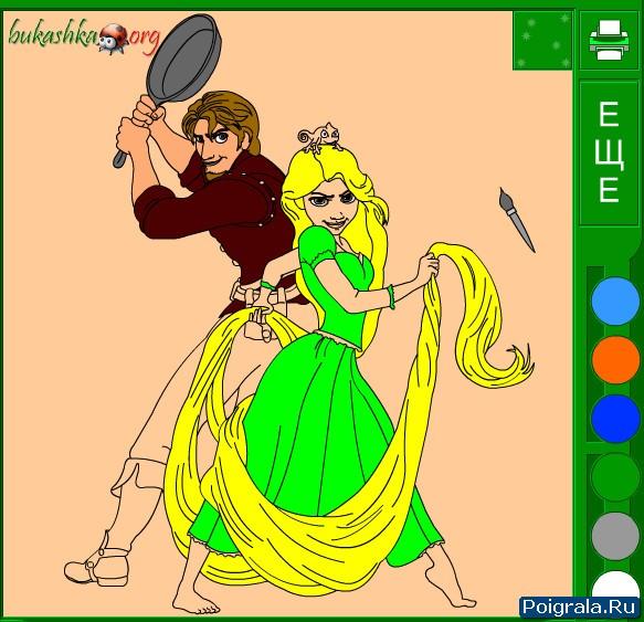 Картинка к игре Рапунцель и Флин