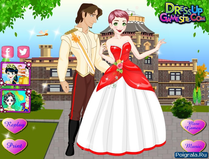 Картинка к игре Свадебный наряд Рапунцель