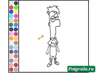Раскраска Ферба картинка 1