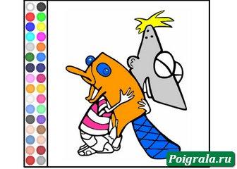 Картинка к игре Раскраска Финис и Перри