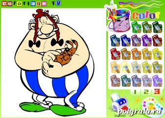 Картинка к игре Обеликс и Догматикс, раскраска