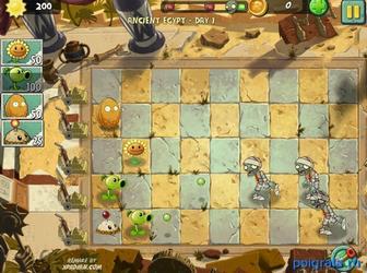 Игра Зомби против растений 2