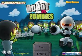 Роботы против зомби картинка 1