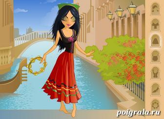 Картинка к игре Оденьте девушку из Италии