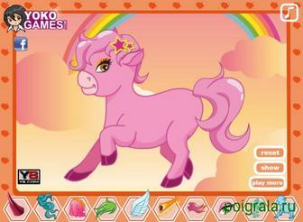 Картинка к игре Розовый единорог
