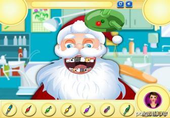 Картинка к игре Санта у дантиста