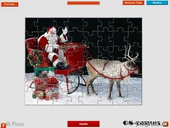 Игра Пазл с Санта Клаусом