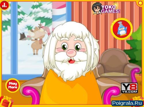 Картинка к игре Санта Клаус в парикмахерской