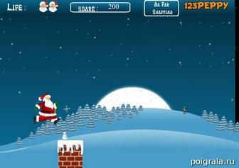 Картинка к игре Прыжки Санта Клауса