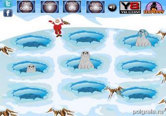Картинка к игре Санта кормит тюленей
