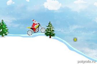 Картинка к игре Санта на мотоцикле