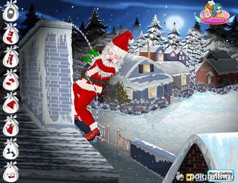 Картинка к игре Санта на крыше