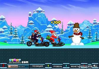 Картинка к игре Гонки по снегу с Сантой