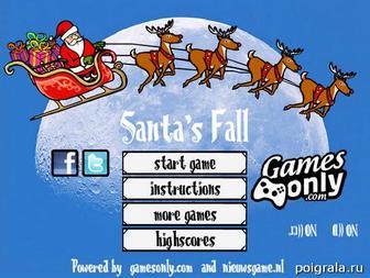 Игра Santa's fall