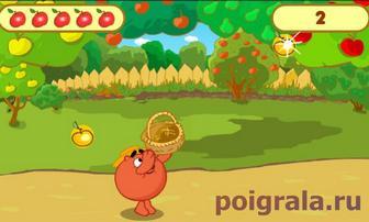 Картинка к игре Смешарки, сбор урожая