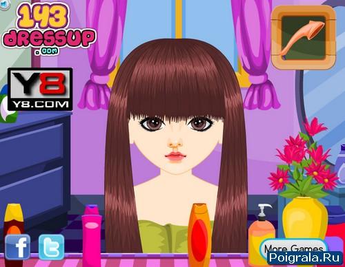 Картинка к игре Прическа для девочки