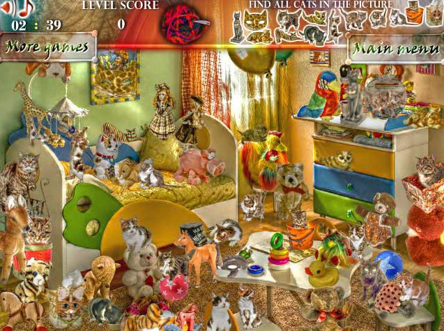 Картинка к игре Найди котов