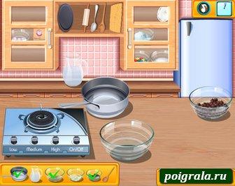 Картинка к игре Кухня Сары, готовим пиццу