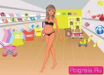 Картинка к игре Шоппинг беременной девушки