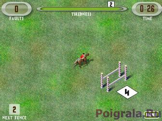 Картинка к игре Прыжки на лошади через барьеры