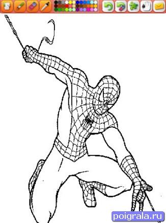 Игра Раскарска человек - паук