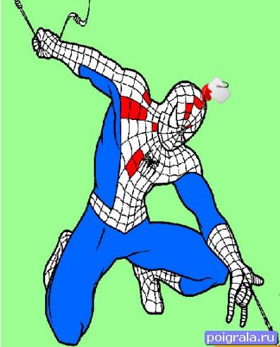 Раскарска человек - паук играть онлайн бесплатно